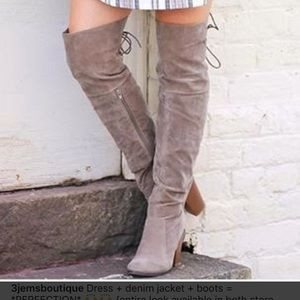 Nude Over The Knee Boot
